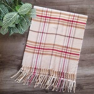 V. Fraas Cashmink plaid scarf